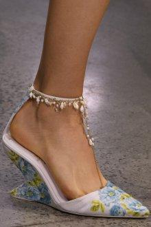 Туфли вечерние цветочные