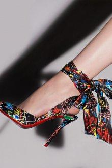 Туфли вечерние графичные
