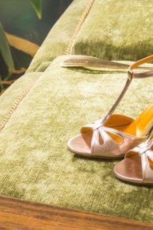 Туфли вечерние кожаные