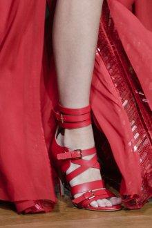 Туфли вечерние красные кожаные