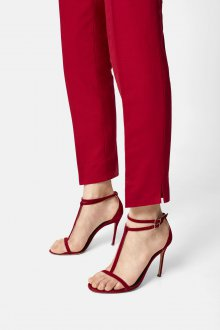 Туфли вечерние красные открытые