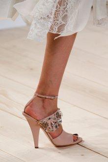 Туфли вечерние пудровые
