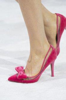 Туфли вечерние розовые бархатные