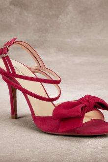 Туфли вечерние розовые замшевые