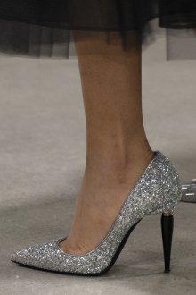 Туфли вечерние блестящие серебряные