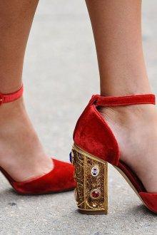 Туфли вечерние велюровые