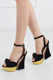 Туфли вечерние велюровые черные
