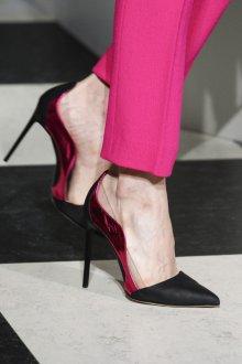 Туфли вечерние с розовыми вставками