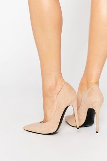 Туфли вечерние замшевые