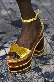 Туфли вечерние желтые бархатные