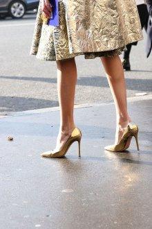 Туфли вечерние золотой металлик