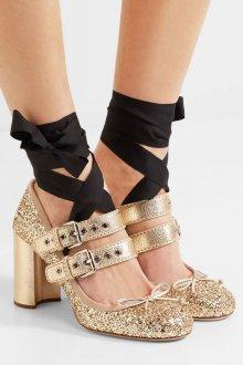 Туфли вечерние золотые