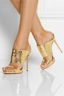 Туфли вечерние золотистые