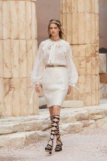 Платье шанель белое ажурное