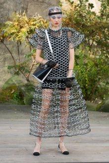 Платье шанель черное сетчатое