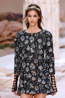 Платье шанель черное твидовое