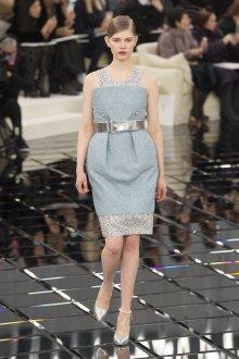 Платье шанель голубое