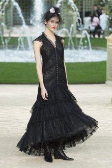 Платье шанель кружевное черное