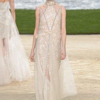 Платье шанель кружевное свадебное