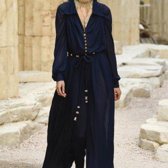 Платье шанель синее