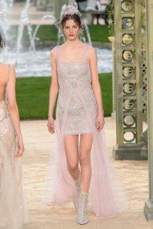 Платье шанель свадебное блестящее