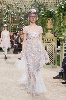 Платье шанель свадебное с блестками