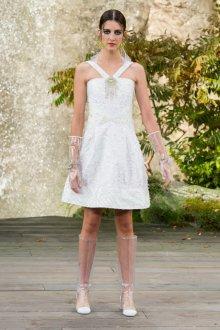 Платье шанель свадебное короткое