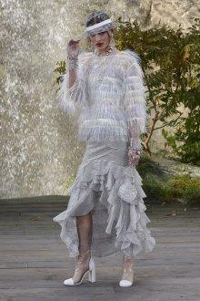 Платье шанель вечернее серебряное