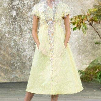 Платье шанель желтое