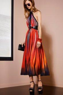 Платье с принтом абстрактным