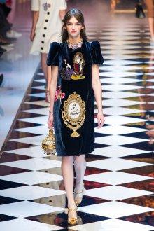 Платье с принтом бархатное