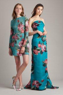 Платье с принтом бирюзовое