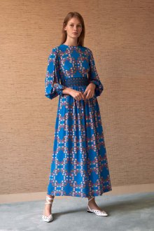 Платье с принтом цветочным мелким