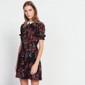 Платье с принтом цветочным розы