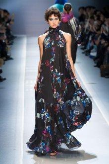 Платье с принтом цветочным длинное
