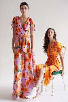 Платье с принтом длинное яркое