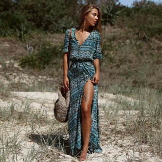 Платье с принтом этно