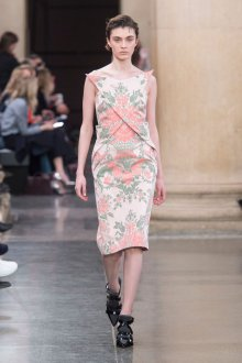 Платье с принтом цветочным крупным