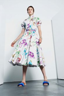 Платье с принтом крупным