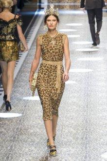 Платье с принтом леопардовым блестящее
