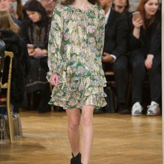Платье с принтом роз мини