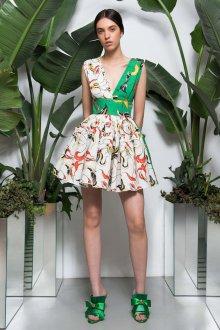 Платье с принтом мини и рюшами