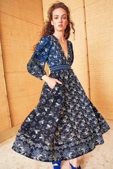 Платье с принтом растительным