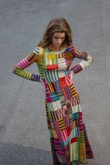 Платье с принтом трикотажное с люрексом