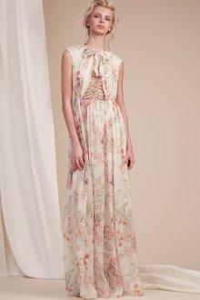 Платье с принтом вечернее нежное