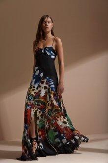 Платье с принтом вечернее шифоновое