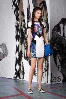 Платье с принтом и вставками