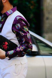Мужской клатч с цветами