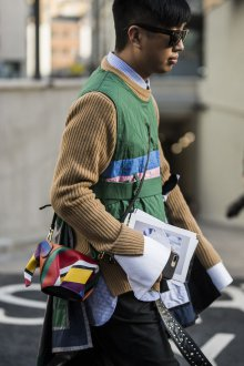 Мужской клатч разноцветный