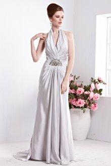 Шелковое платье без рукавов
